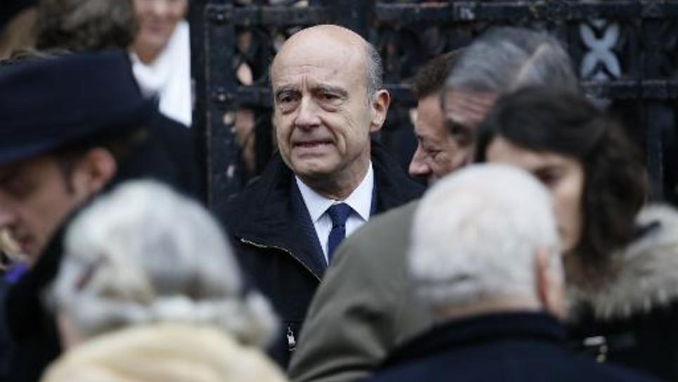Alain Juppé lors des funérailles de Jacques Barrot, le 8 décembre 2014 à Paris