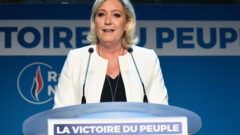 La présidente du Rassemblement national Marine Le Pen le 26 mai 2019 à Paris