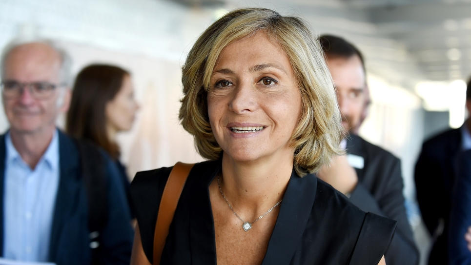 La présidente de la région Ile-de-France Valérie Pécresse, le 12 septembre 2018 à Malakoff près de Paris