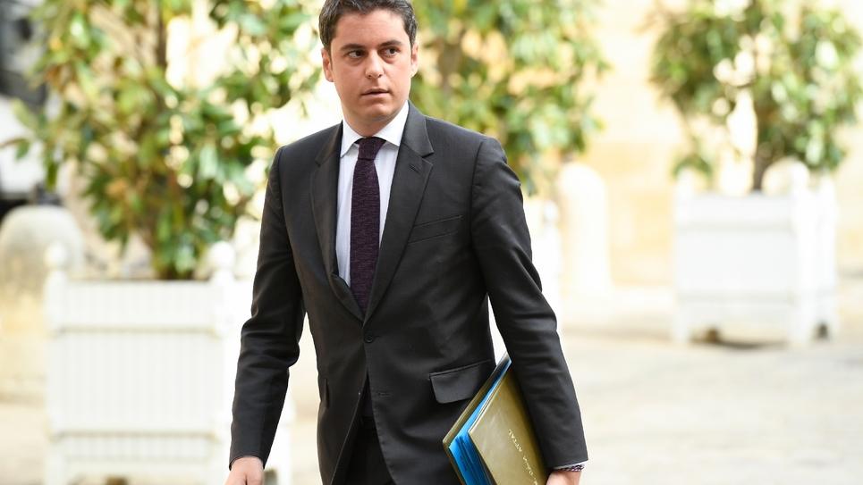 Le secrétaire d'Etat en charge de la Jeunesse, Gabriel Attal, le 29 avril 2019 à Paris