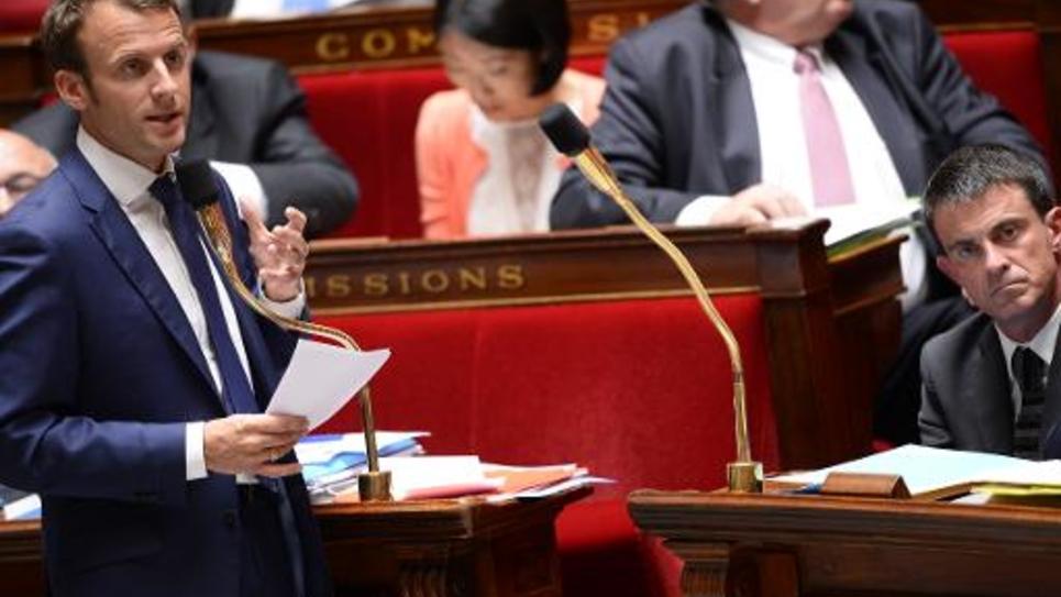 Le ministre de l'Economie Emmanuel Macron le 10 juin 2015 à l'Assemblée nationale