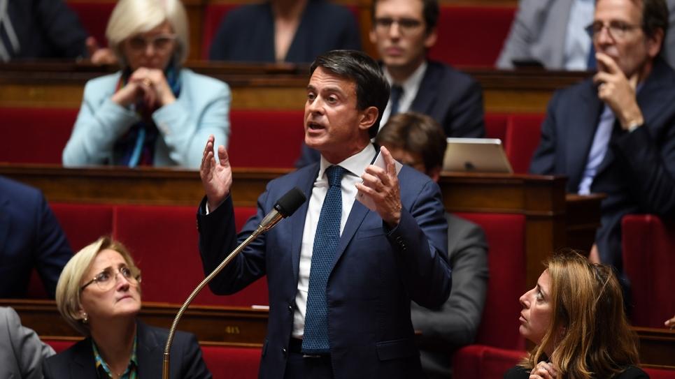 Le député de l'Essonne Manuel Valls à l'Assemblée nationale, le 2 octobre 2018