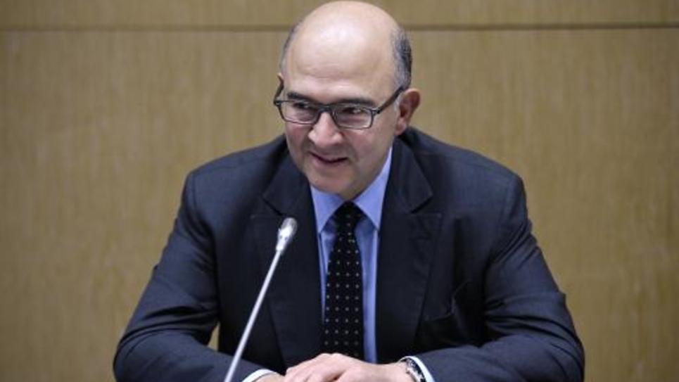 Le commissaire européen à l'Économie, le Français Pierre Moscovici le 14 octobre 2014 à Paris