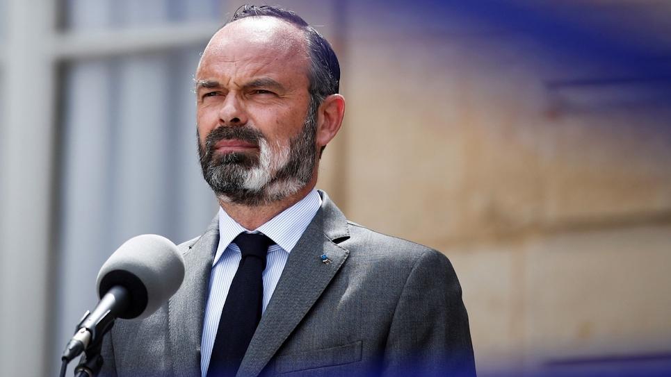 Conférence de presse du Premier ministre Edouard Philippe à Matignon le 22 mai 2020