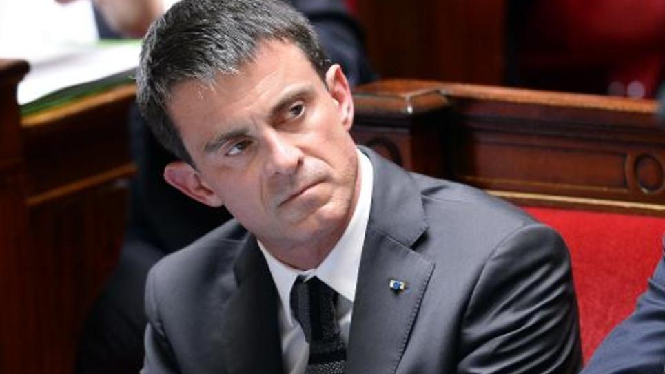 Manuel Valls sur les bancs de l'Assemblée nationale, le 10 juin 2015