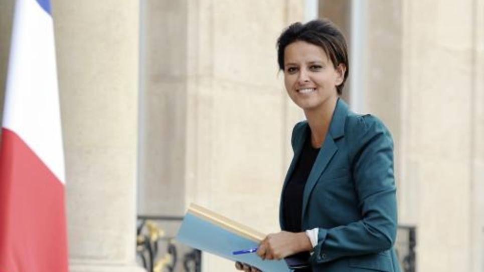 La ministre de l'Education nationale Najat Vallaud-Belkacem, le 11 septembre 2014 à Paris