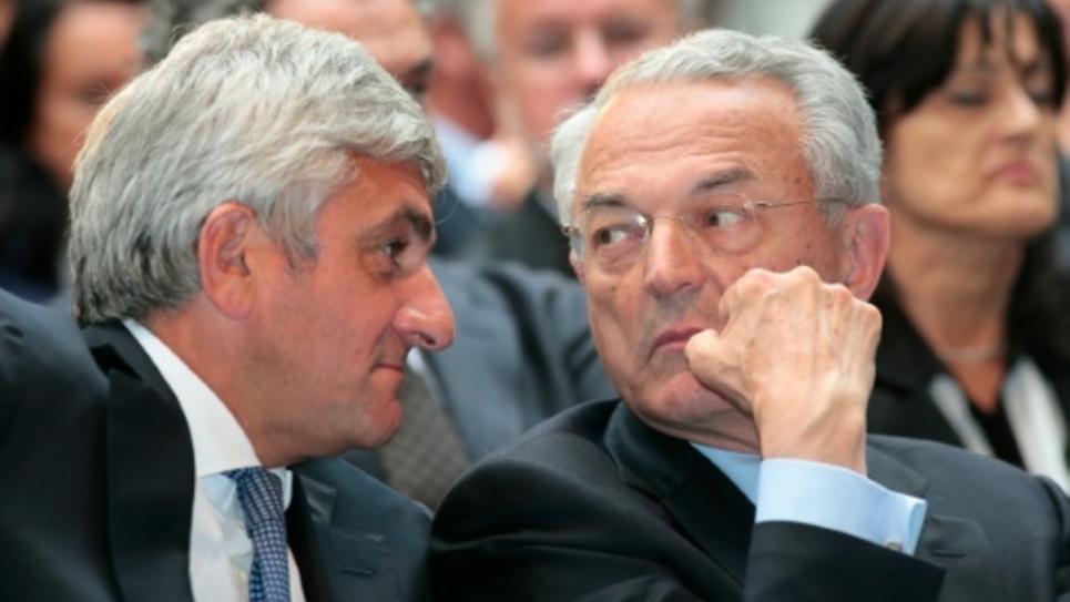Hervé Morin et Jean Arthuis le 18 septembre 2012 à Paris