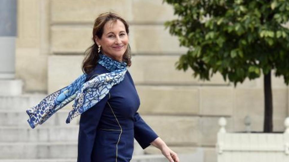 La ministre de l'Ecologie Ségolène Royal quitte l'Elysée, le 2 juin 2015 à Par