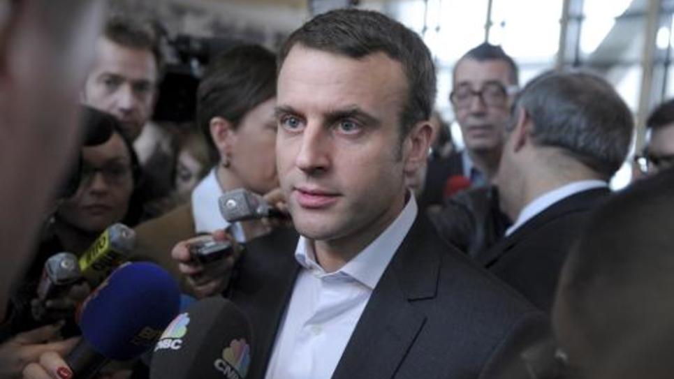 Le ministre de l'Economie Emmanuel Macron à Paris, le 29 janvier 2015