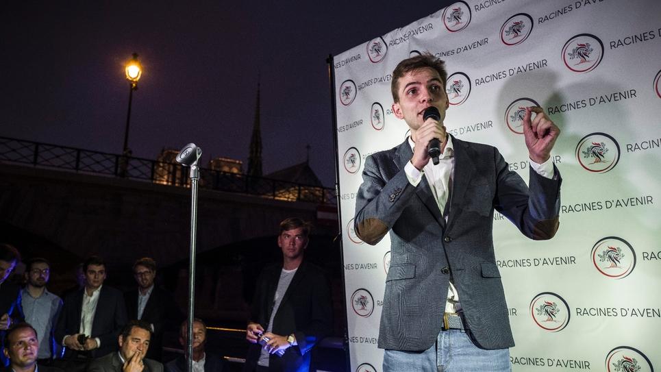 Erik Tegnér, candidat à la présidence des jeunes LR, lance sa campagne à Paris le 5 septembre 2018