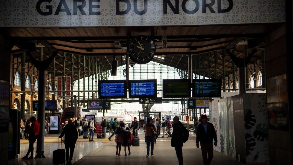 La gare du Nord en avril 2018 à Paris