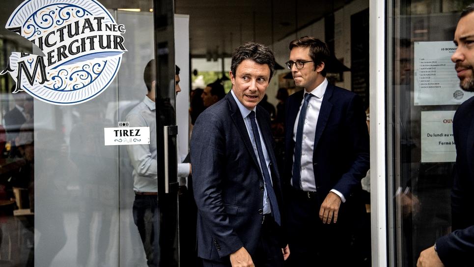Benjamin Griveaux en déplacement de campagne le 29 août 2019 à Paris