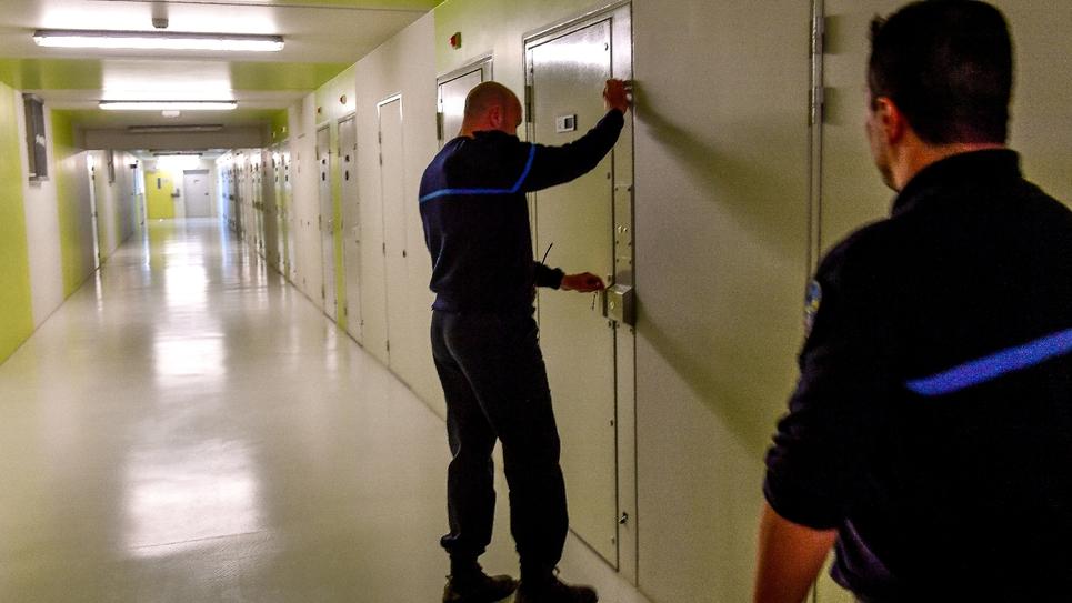 Dans la prison de Vendin-le-Vieil, dans le Nord de la France, en mai 2018