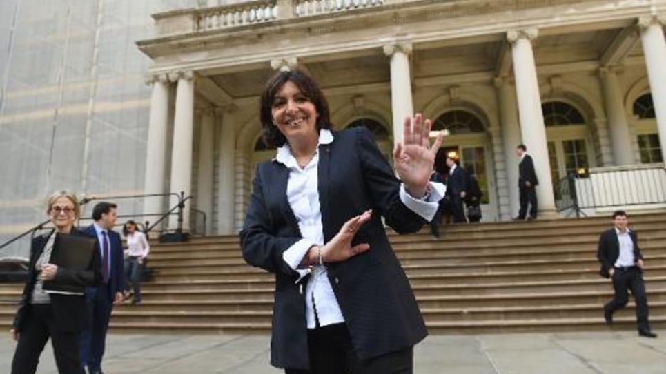 La maire de Paris Anne Hidalgo (PS) à New York le 30 mai 2014