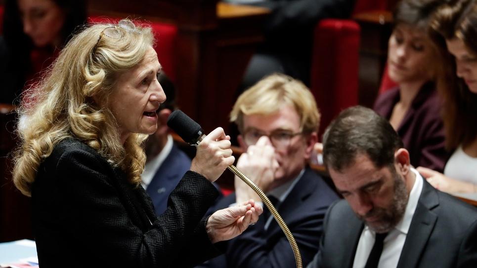 La ministre de la Justice Nicole Belloubet à l'Assemblée nationale à Paris, le 13 novembre 2018