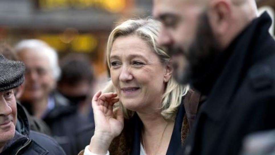 La présidente du FN, Marine Le Pen, à Paris le 22 décembre 2014
