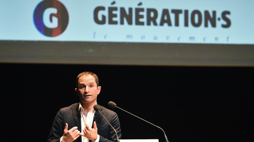 L'ancien candidat à la présidentielle PS Benoît Hamon au Mans, le 2 décembre 2017
