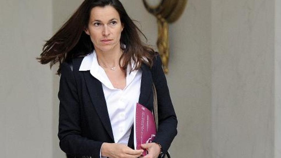 La ministre de la Culture Aurélie Filippetti sort de l'Elysée, le 28 mai 2014
