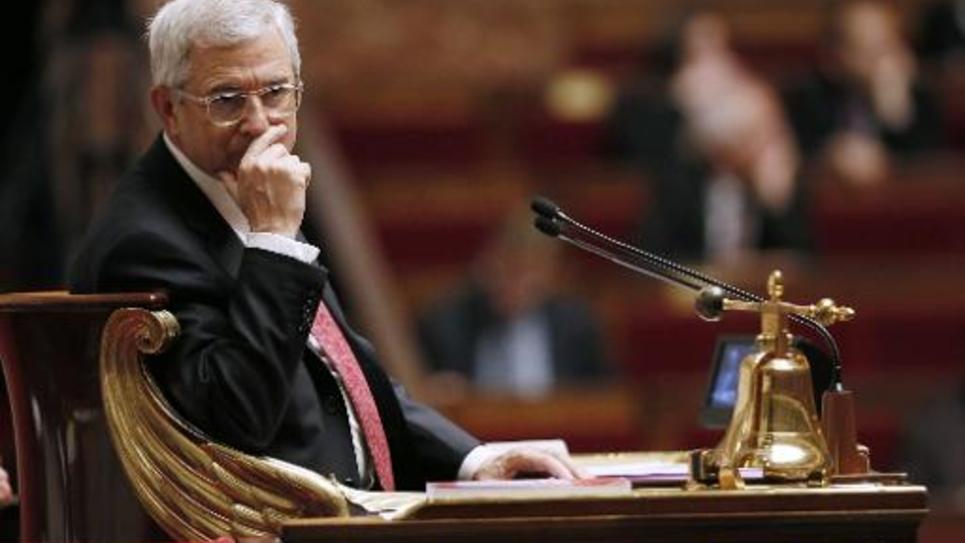 Le président de l'Assemblée nationale Claude Bartolone le 5 novembre 2014 dans l'hémicycle à Paris