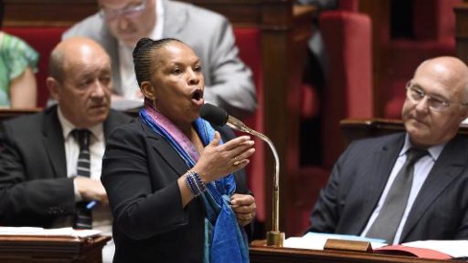 La Garde des Sceaux Christiane Taubira à l'Assemblée nationale le 11 juin 2014
