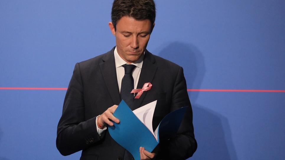 Le porte-parole du gouvernement Benjamin Griveaux à l'Élysée à Paris, le 3 octobre 2018