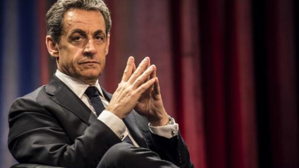 Nicolas Sarkozy lors d'une réunion le 19 février 2015 à Chalon-sur-Saône