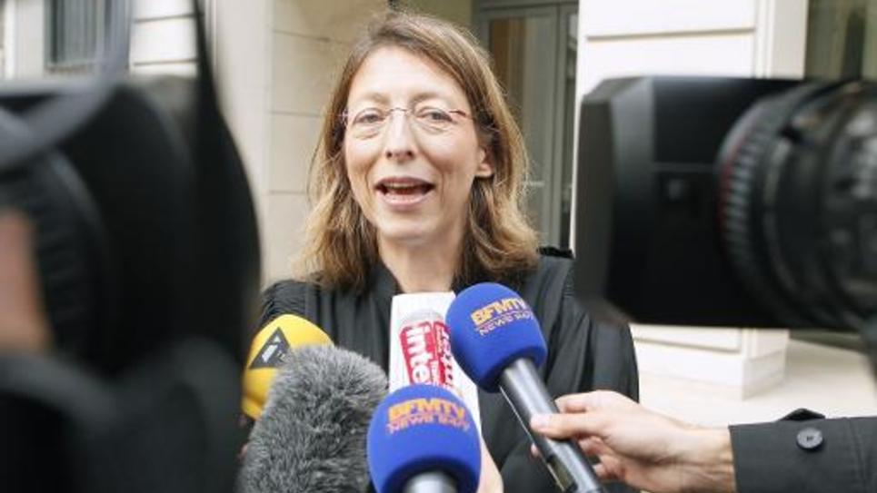 Solange Doumic, avocate de Fabienne Liadzé, répond aux journalistes le 4 octobre 2014 à Paris