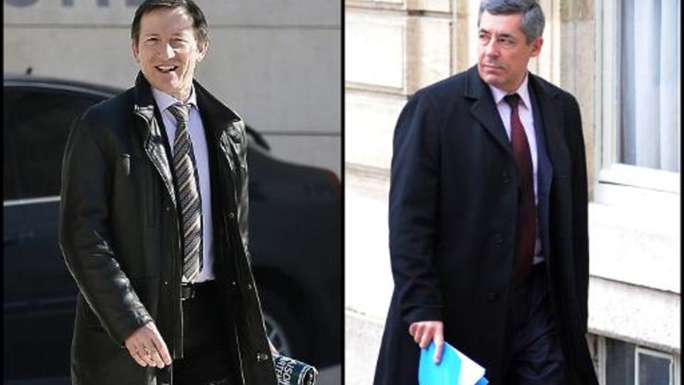 Photo-montage d'une photo du juge Michel Gentil et d'une du député UMP Henri Guaino, réalisé le 11 avril 2013