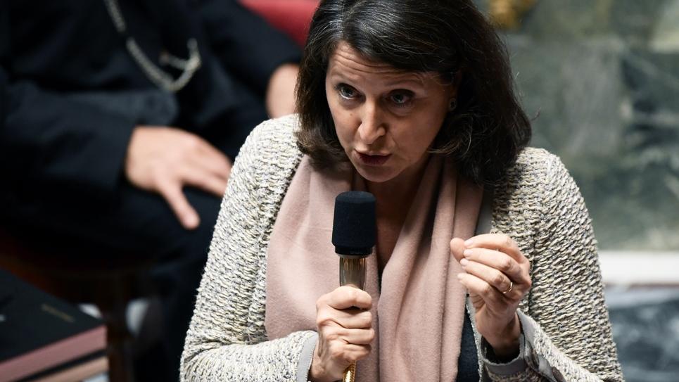 La ministre de la Santé et des Solidarités Agnès Buzyn lors de la  séance des questions au gouvernement, le 29 janvier 2019 à Paris