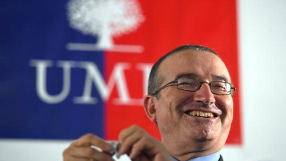 Hervé Mariton lors d'une assemblée générale de l'UMP, le 8 octobre 2014 à Aix-en-Provence