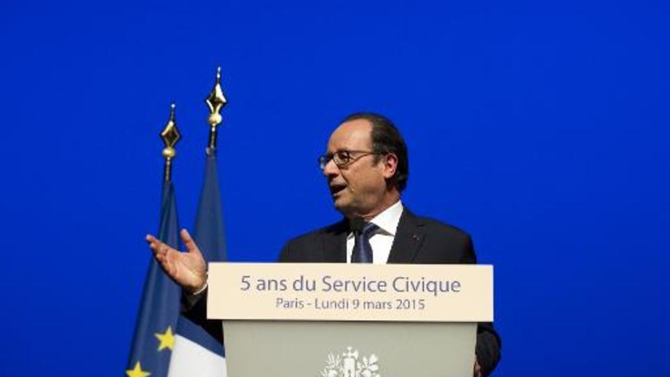 Discours de François Hollande à l'occasion du 5e anniversaire du service civique, le 9 mars 2015 à Paris