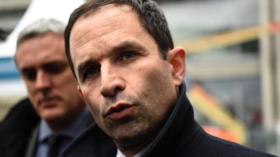 Benoit Hamon, le  1er février à Paris