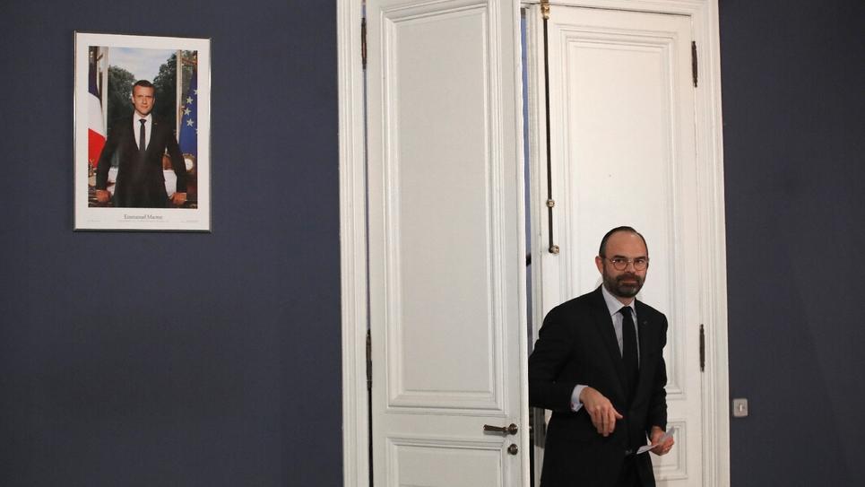 Le Premier ministre Edouard Philippe arrive pour une conférence de presse à l'issue du séminaire gouvernemental de rentrée, le 9 janvier 2019 à Paris