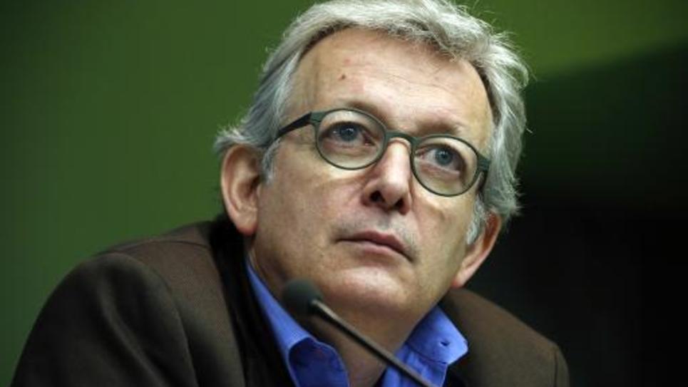 Le secrétaire national du PCF Pierre Laurent à Bobigny, le 30 janvier 2015