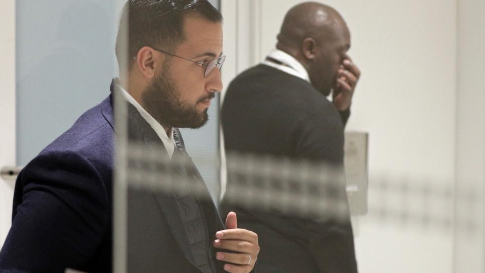 L'ancien chargé de sécurité à l'Elysée, Alexandre Benalla le 19 février 2019 au palais de justice de Paris