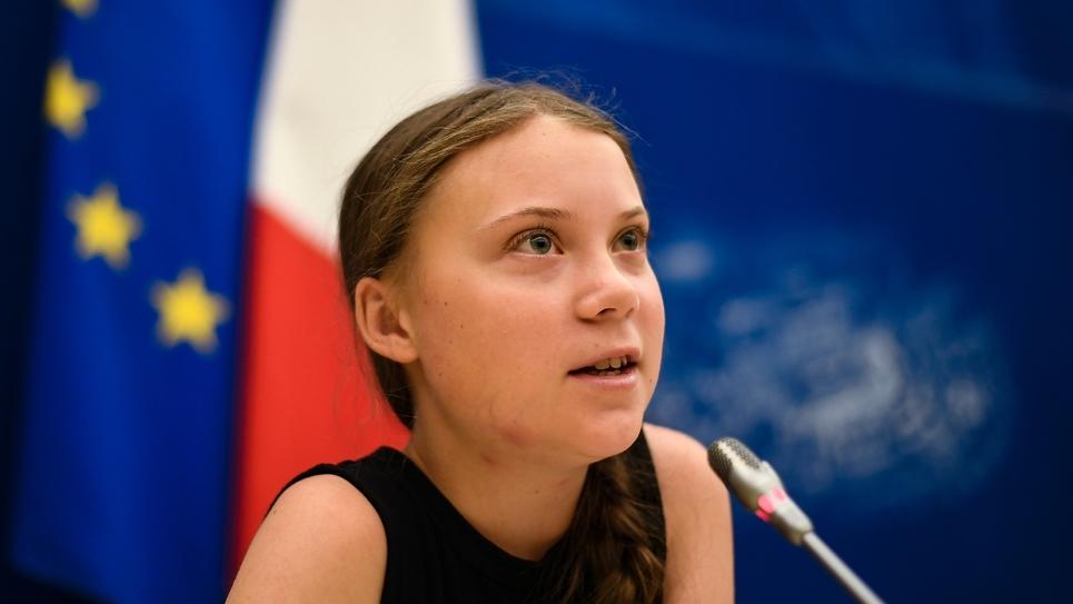 La Suèdoise Greta Thunberg, figure de la lutte contre le changement climatique, à l'Assemblée nationale, le 23 juillet 2019 à Paris