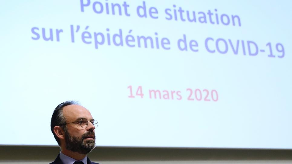 Le Premier ministre Edouard Philippe, le 14 mars 2020 à Paris