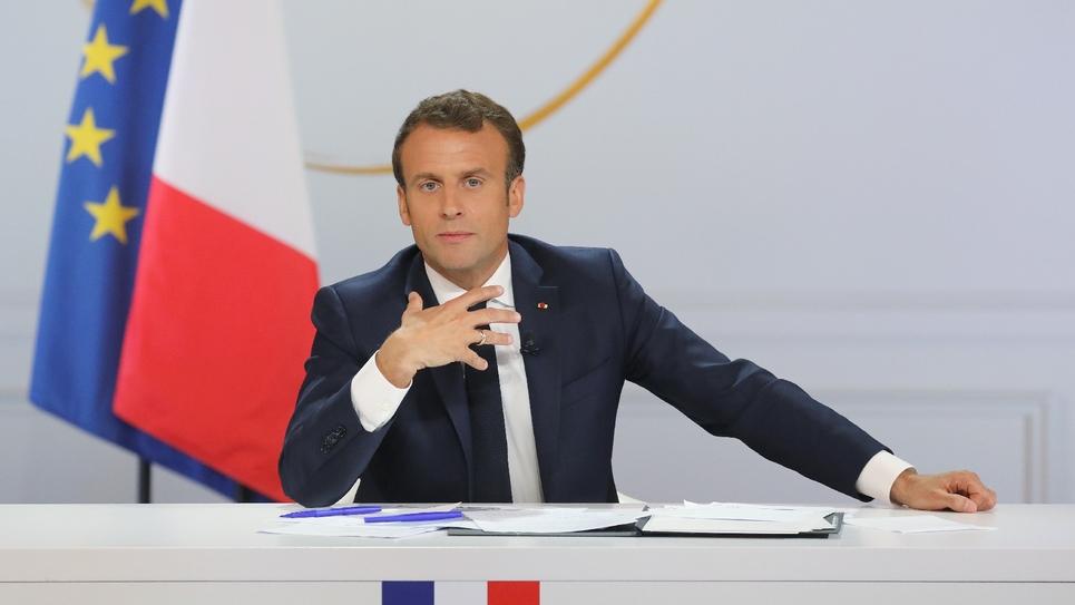 Le président Emmanuel Macron lors d'une conférence de presse à l'Elysée, le 25 avril 2019 à Paris