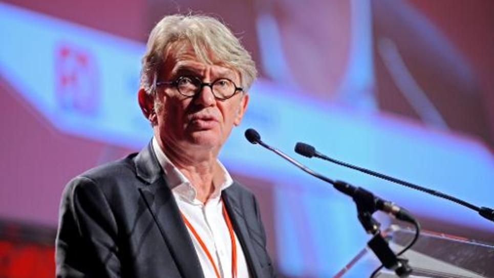 Jean-Claude Mailly lors du 23e congrès de FO le 2 février 2015 à Tours