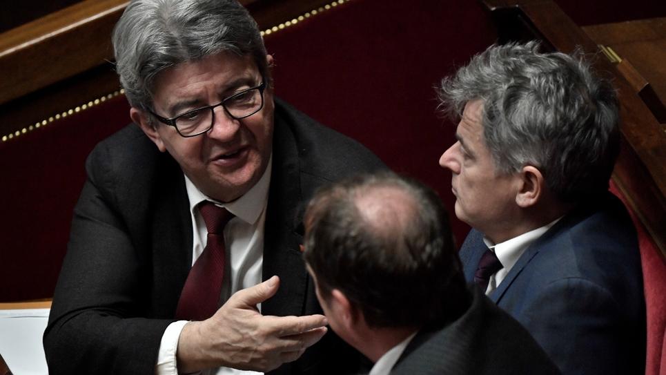 Le chef de file de La France insoumise (LFI) Jean-Luc Mélenchon à l'Assemblée nationale, le 7 janvier 2020 à Paris