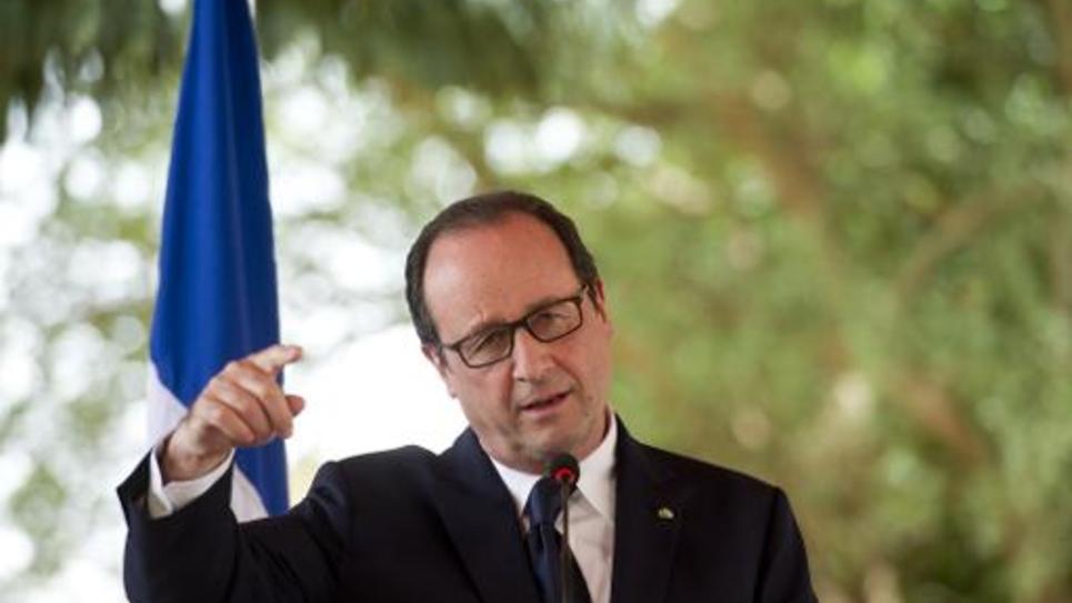 Le président de la République, François Hollande, le 19 juillet 2014 lors d'une visite à Niamey, au Niger