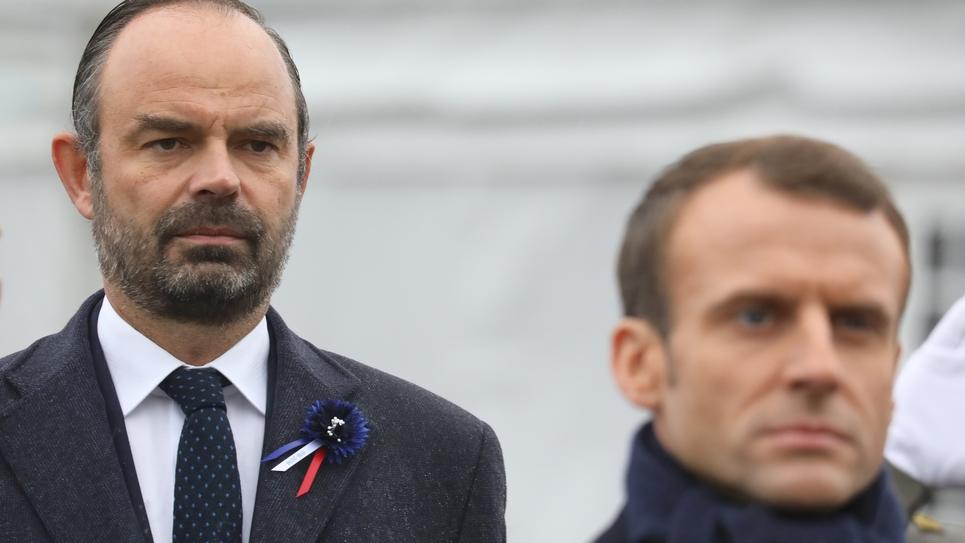 Le Premier ministre Edouard Philippe (à gauche) et le président Emmanuel Macron, le 11 novembre 2018 à Paris