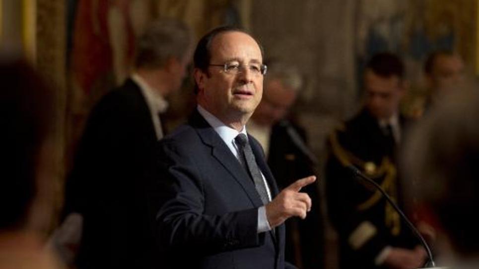 François Hollande le 1er mai 2014 à l'Elysée à Paris