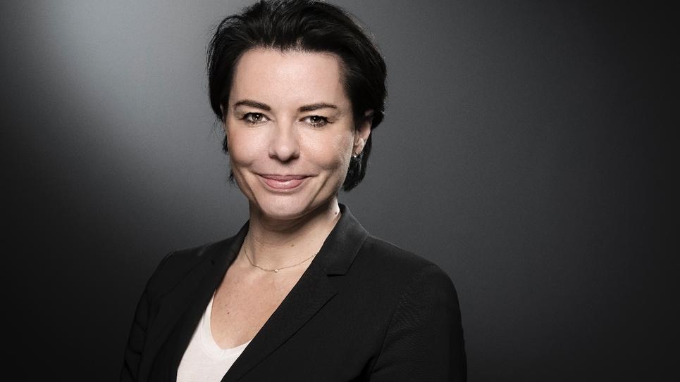 Laurence Sailliet, l'une des porte-parole du parti Les Républicains, en février 2018