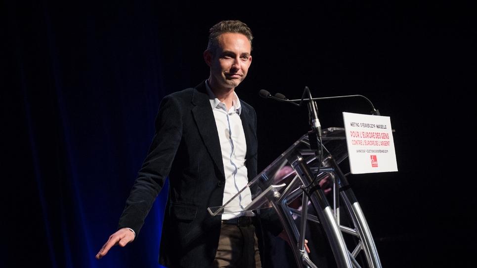 Ian Brossat, tête de liste du PCF aux élections européennes, le 5 février 2019 à Marseille