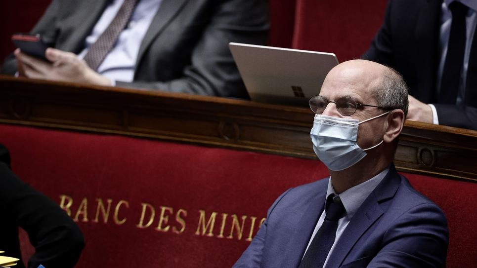 Le ministre de l'Education Jean-Michel Blanquer, le 1er avril 2021 à Paris