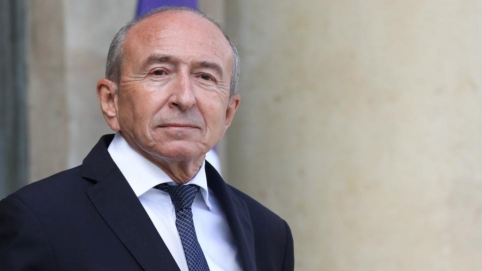 Le ministre de l'Intérieur Gérard Collomb devant le palais de l'Élysée à Paris, le 19 septembre 2018