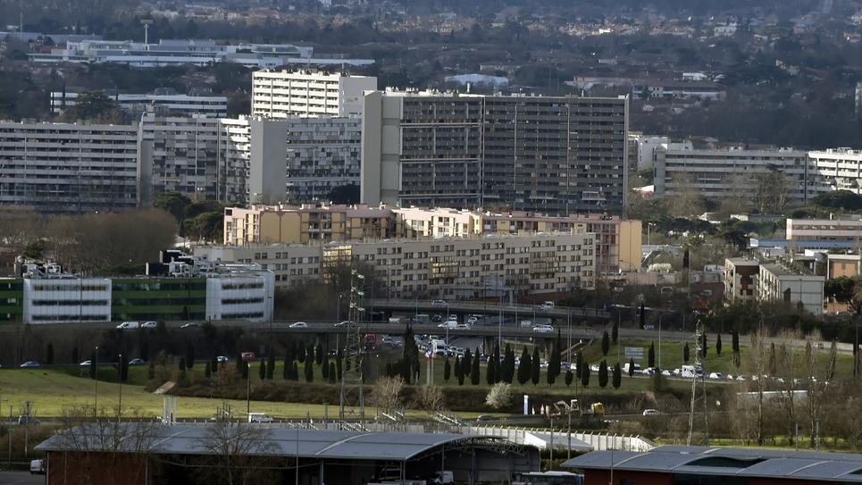 Vue du quartier du Mirail à Toulouse, le 1er mars 2017