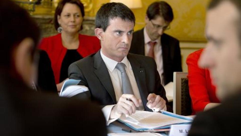 Le Premier ministre Manuel Valls, à l'Hôtel Matignon à Paris, le 6 mars 2015