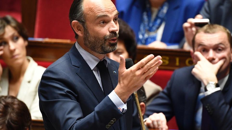 Le Premier ministre français Edouard Philippe à l'Assemblée nationale le 24 octobre 2018